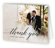 This is a black and white wedding thank you card by Design Lotus called Someone Like You with standard printing on strathmore in standard.