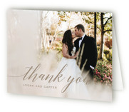 This is a brown wedding thank you card by Design Lotus called Someone Like You with standard printing on strathmore in standard.