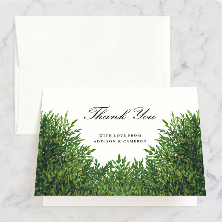 """The Garden"" - Thank You Cards in Cream by Elly."