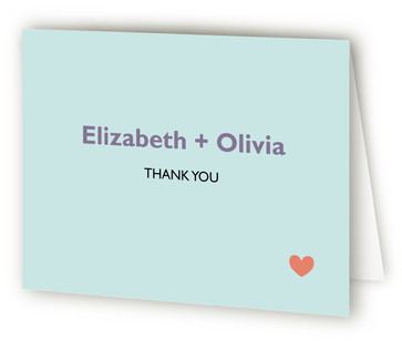 Two Brides Destination Thank You Cards