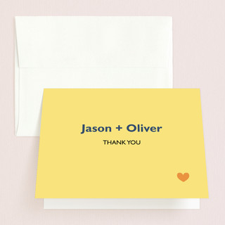 Two Grooms Destination Thank You Cards