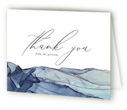 This is a blue wedding thank you card by Erin Deegan called Slate with standard printing on strathmore in standard.