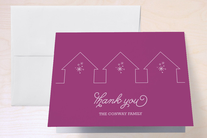 """""""Progressive Dinner Party"""" - Thank You Cards in Royal by sweet street gals."""