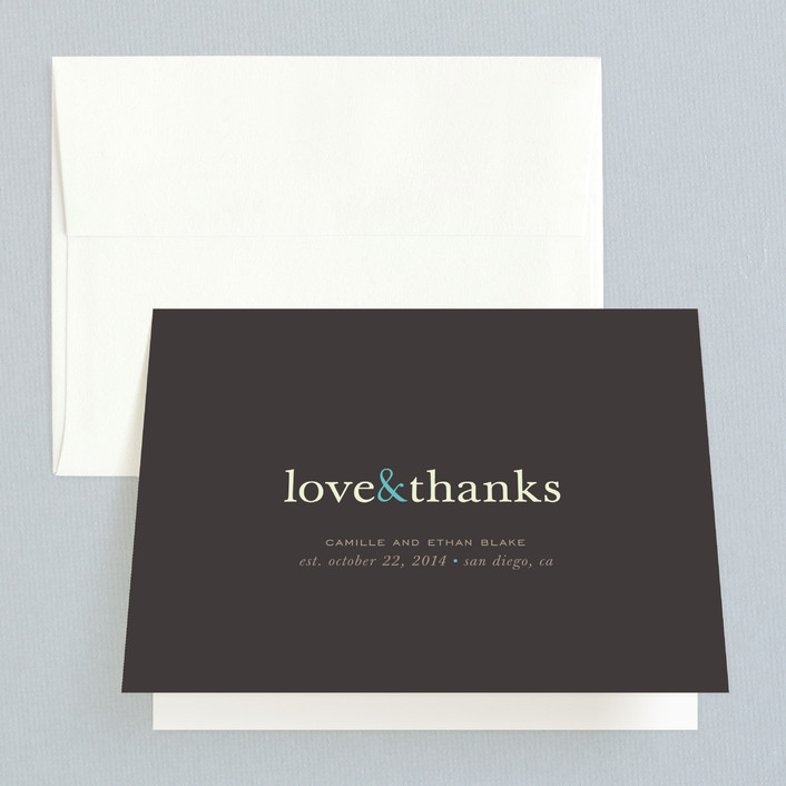 """""""Pop of Color"""" - Thank You Cards in Turquoise by kelli hall."""