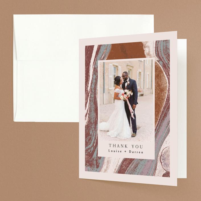 """Jasper"" - Folded Thank You Card in Sandstone by Everett Paper Goods."