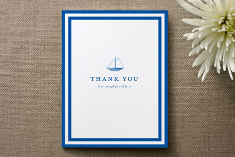 Sails Away Thank You Cards