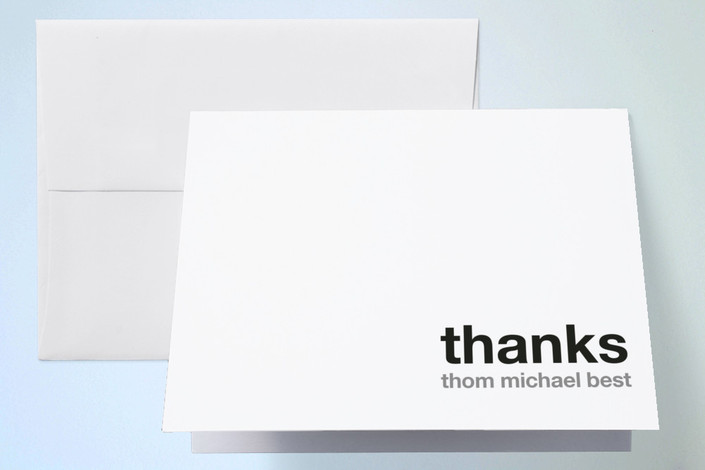 """""""Live In Style"""" - Thank You Cards in Cloud by Jola Hyjek."""