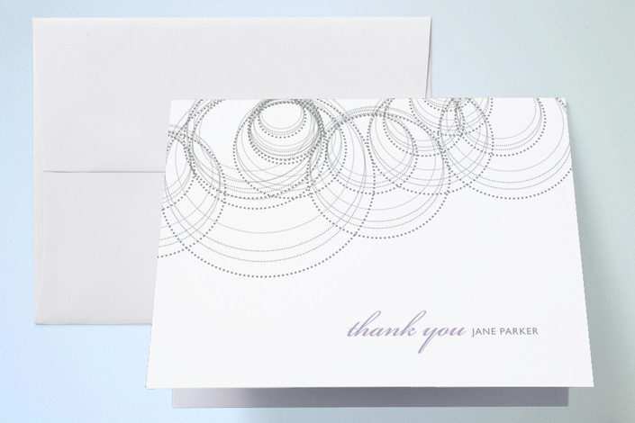 """Intricate"" - Thank You Cards in Violet by Andrea Snaza."