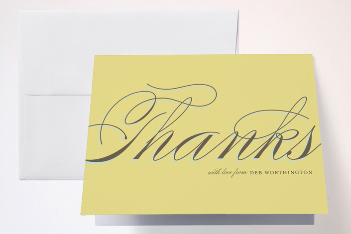 """""""Celebrate"""" - Destination Folded Thank You Card in Mustard by The Social Type."""