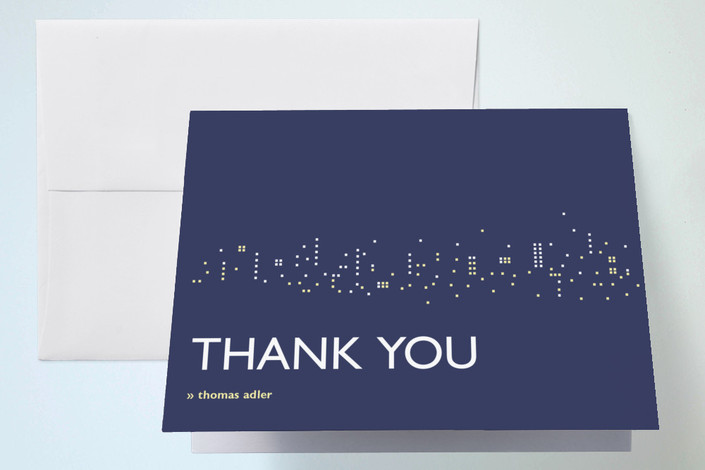 """""""Night Lights"""" - Thank You Cards in Midnight Blue by sweet street gals."""