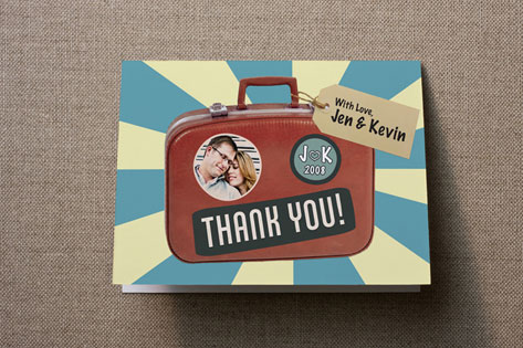 Souvenir Suitcase Thank You Cards