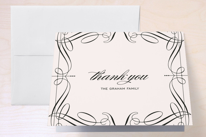 """Opera"" - Thank You Cards in Vanilla by Cococello."