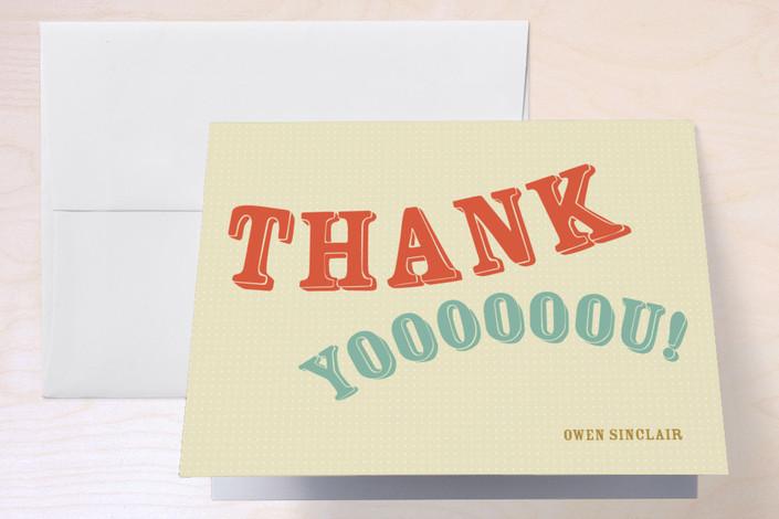 """Shhh…"" - Thank You Cards in Seafoam by Jody Wody."
