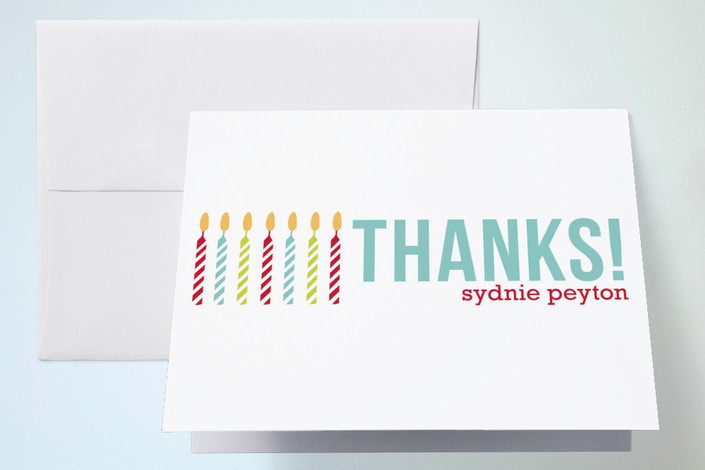 """Colorful Candles"" - Thank You Cards in Turquoise by sweet tree studio."