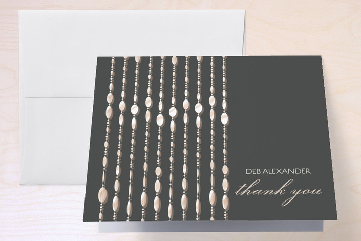 """Swanky Soiree"" - Thank You Cards in Midnight by Jessica Tree."