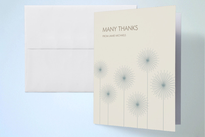 """""""Roman Candles"""" - Thank You Cards in Eggshell by Debra Valdez."""