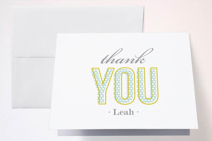 """The Big One"" - Thank You Cards in Cloud by Paper Dahlia."