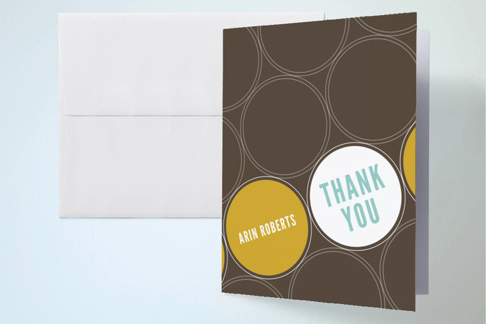 """Circle Soiree"" - Thank You Cards in Chocolate by sweet tree studio."