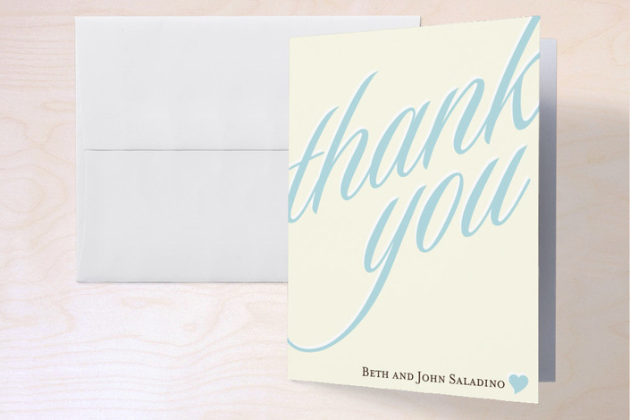 """""""We Still Do"""" - Thank You Cards in Sky by Letter19Design."""