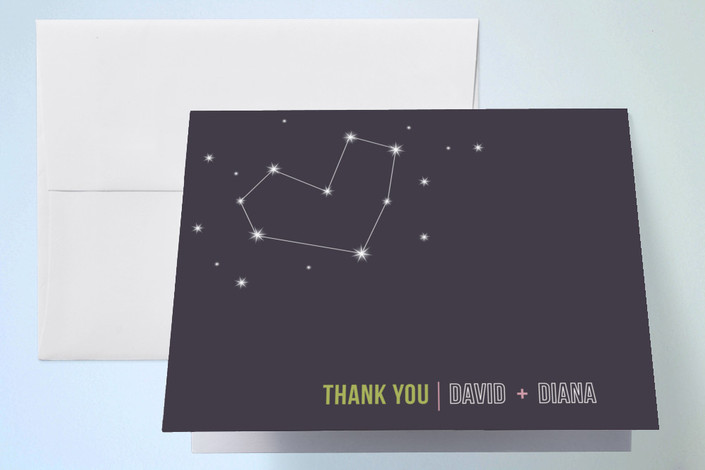 """Stargazing"" - Thank You Cards in Midnight by Frooted Design."
