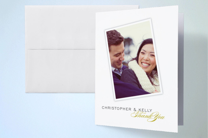 """""""Sealed with a Kiss"""" - Thank You Cards in Chartreuse by Oscar & Emma."""