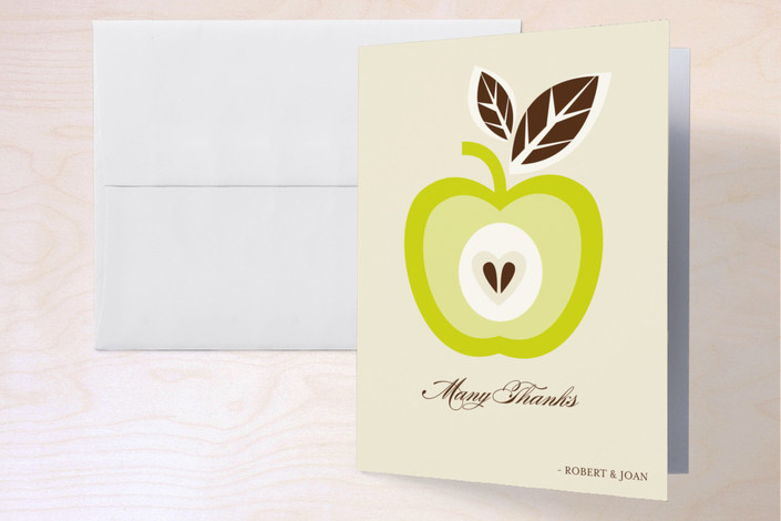 """""""Core of My Heart"""" - Folded Thank You Card in Garden by Mandy Rider."""