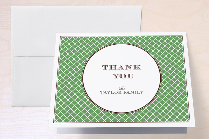 """""""float + lattice"""" - Thank You Cards in Grass by Float Paperie."""