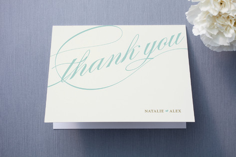 Winter Flourish Thank You Cards