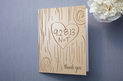 Fall Carving Thank You Cards