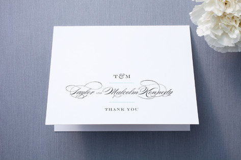 Charming Go Lightly Thank You Cards