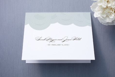 Pearls on a String Thank You Cards