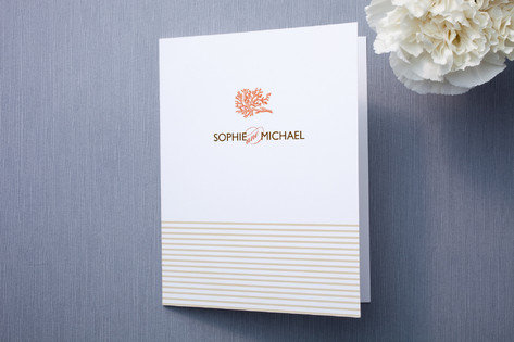 Coral Thank You Cards