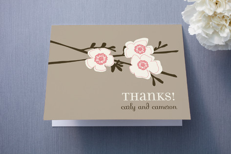 Apple Blossom Thank You Cards