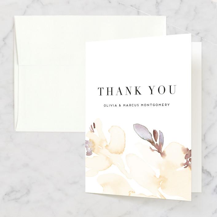 """Florista Modernista"" - Thank You Cards in Azalea by Petra Kern."