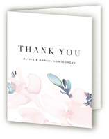 This is a pink wedding thank you card by Petra Kern called Florista Modernista with standard printing on strathmore in standard.