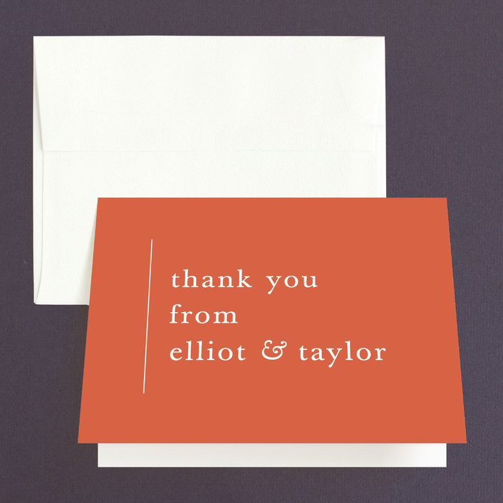 """""""Evermore"""" - Modern Folded Thank You Card in Harvest by carly reed walker."""