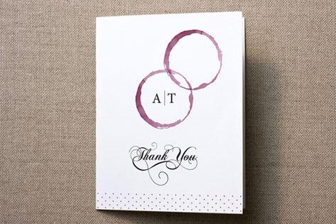 Vino Thank You Cards