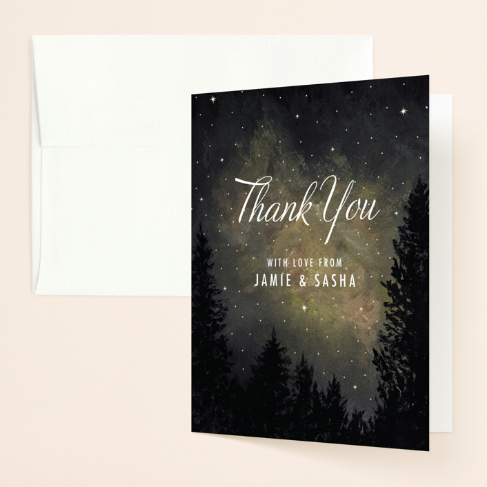 """Starry, Starry Night"" - Thank You Cards in Shadow by Elly."