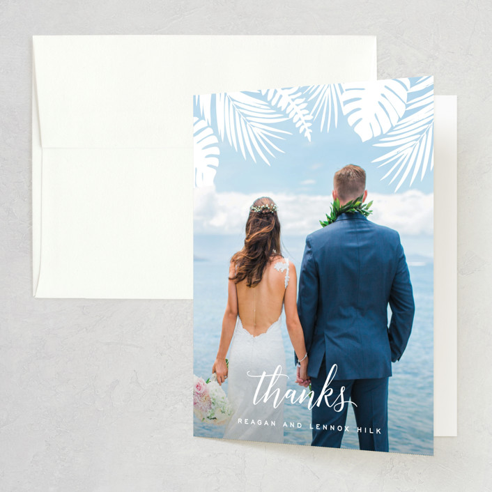 """Tropical Foliage"" - Thank You Cards in Fern by Hooray Creative."