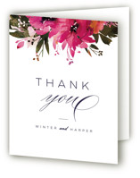 Peeking Florals Thank You Cards