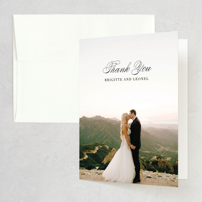 """One and Only"" - Thank You Cards in Classic Bride by Design Lotus."