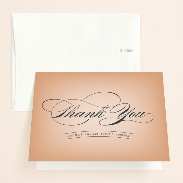 """""""Big City - Austin"""" - Thank You Cards in Peach by Hooray Creative."""