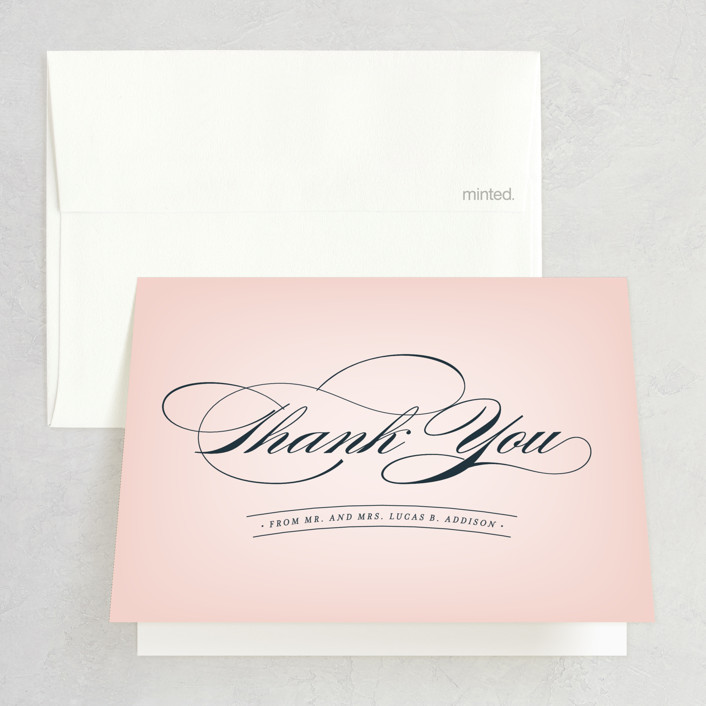 """Big City - San Diego"" - Thank You Cards in Blush by Hooray Creative."