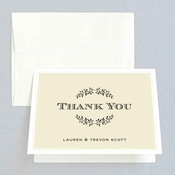 """Aspen Ridge"" - Modern Thank You Cards in Cream by Eric Clegg."
