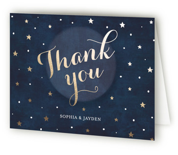 Love you to the Moon and Back Thank You Cards