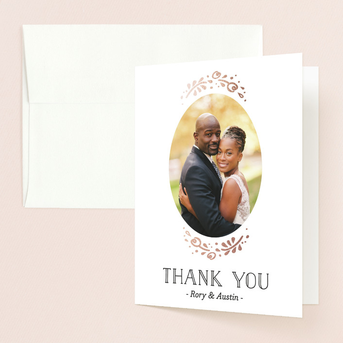"""""""Joyful"""" - Bold typographic, Hand Drawn Thank You Cards in Rose Quartz by Pink House Press."""