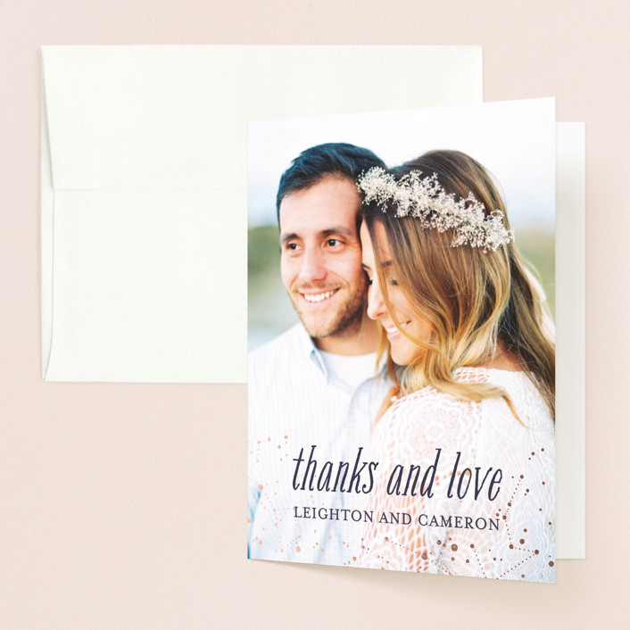 """""""Starlight"""" - Whimsical & Funny, Funny Thank You Cards in Blue Violet by Snow and Ivy."""
