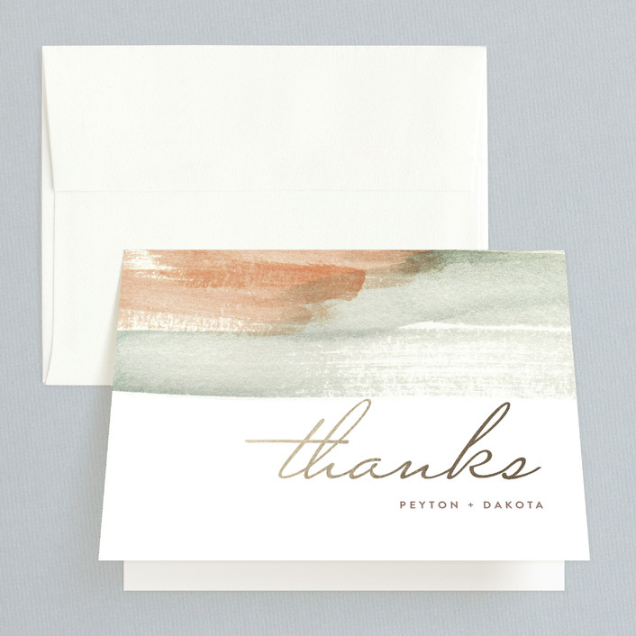 """Canyon"" - Modern, Abstract Thank You Cards in Sienna by Kelly Nasuta."