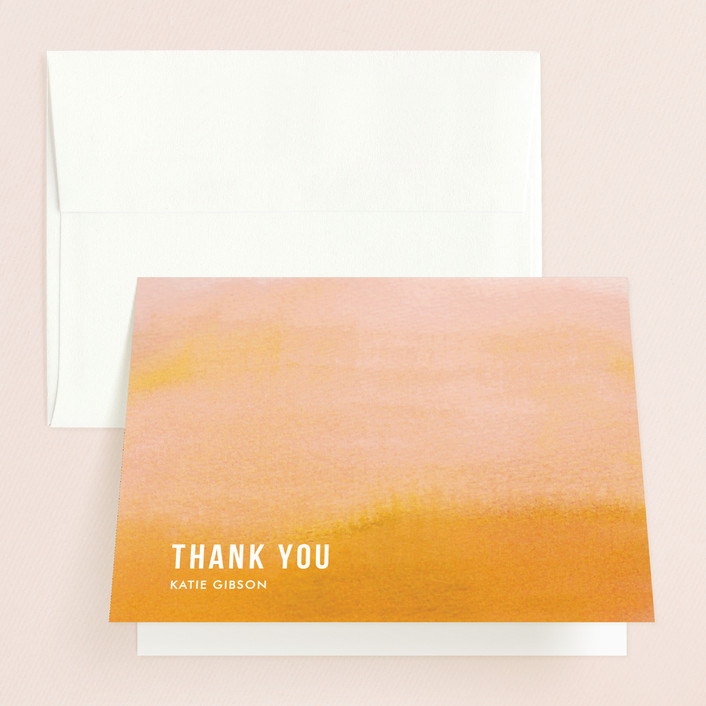"""""""Ombre"""" - Folded Thank You Card in Mandarin by Dean Street."""