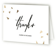 This is a white wedding thank you card by Anupama called Cheers with standard printing on strathmore in standard.